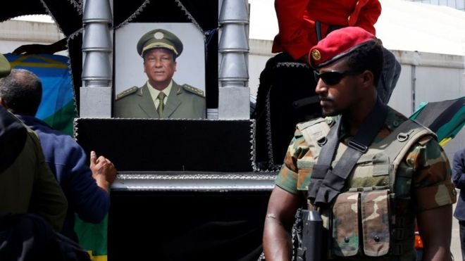 Ethiopia PM Abiy Ahmed weeps for general killed in 'coup bid