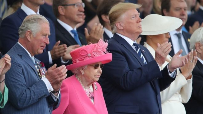 9108c202c856 Donald Trump joins Queen for 75th D-Day anniversary - BBC News