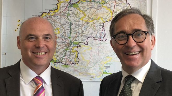 Candidate for the Conservative Leadership in the Welsh Assembly Paul Davies AM (left) and veteran Conservative AM for South Wales Central David Melding (right)