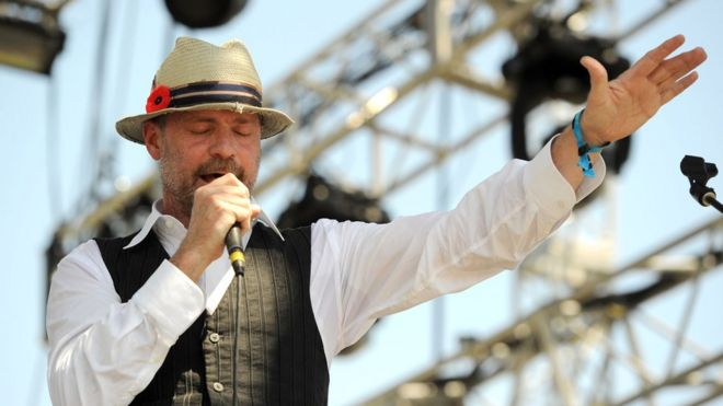 Musician Gordon Downie performs during Day 3 of the Coachella Valley Music & Arts Festival 2011