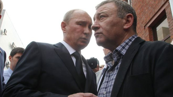 Vladimir Putin with Arkady Rotenberg in 2009