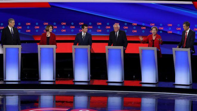 Debate demócrata.
