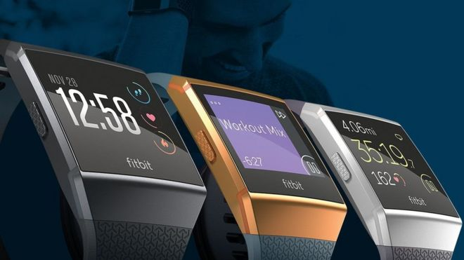 4d804f445 Fitbit Ionic smartwatch introduces blood oxygen sensor - BBC News