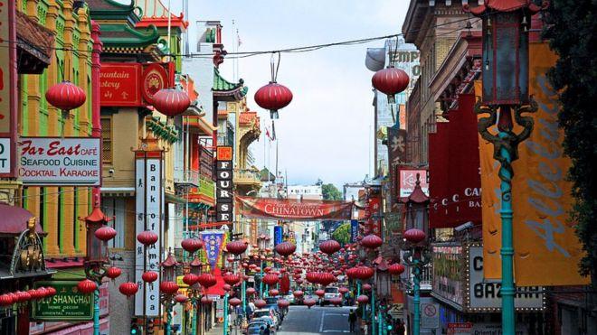 美国旧金山的唐人街