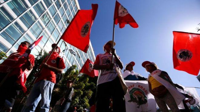 Manifestação do MST em Brasília