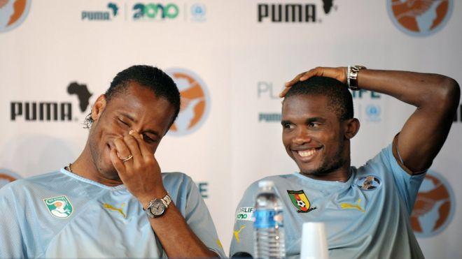 Football : Samuel Eto'o et Didier Drogba collaborateurs officiels du président de la CAF