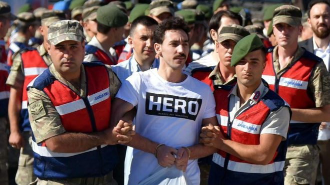 "Prisoner in ""Hero"" T-shirt, Mugla, 13 Jul 17"