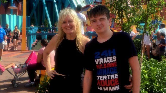 Alicia McColl and her son