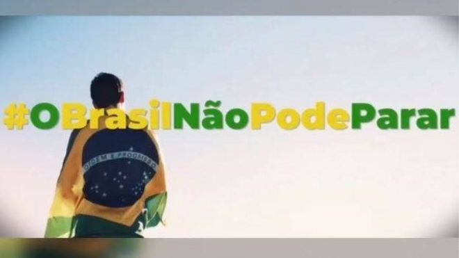 Cena do vídeo da campanha
