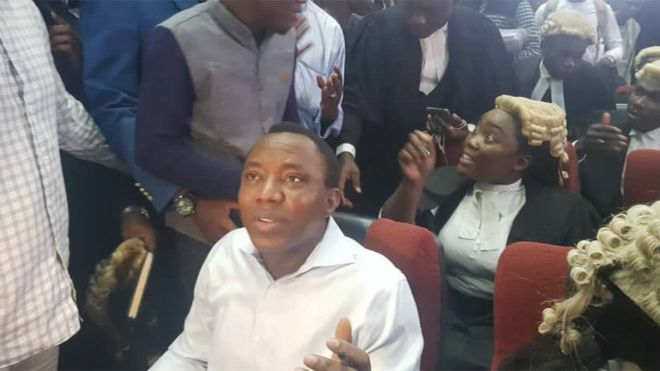 Image result for Court grants Sowore N100m bail, gives journalist other new terms