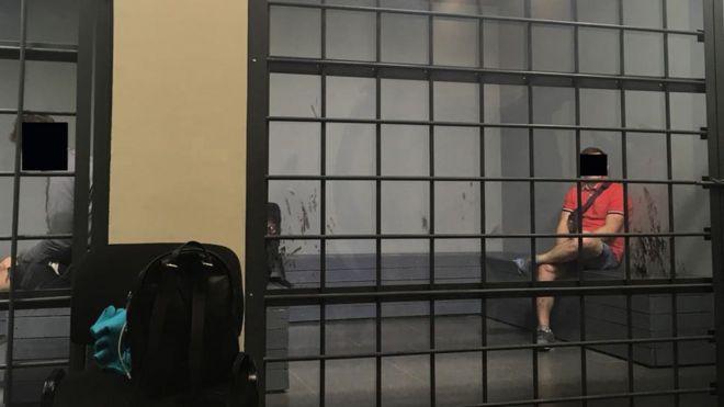 """La """"prisión de la FIFA"""" donde Molly fue detenida por intentar entrar al estadio con la acreditación de una amiga."""