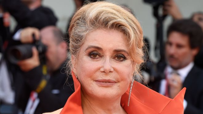 Catherine Deneuve attended the Venice International Film Festival in August