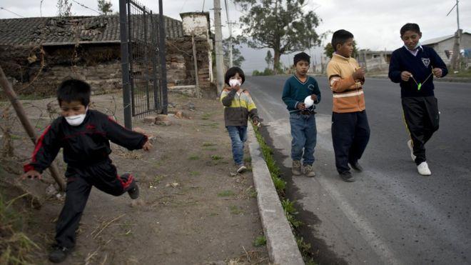 Niños de la provincia de Cotopaxi, en Ecuador