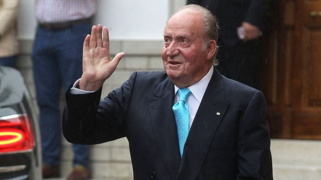 Spain's former King Juan Carlos at a wedding