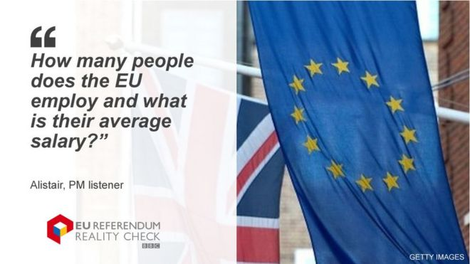 Reality Check: Who works for the EU and what do they get