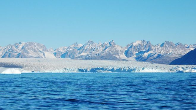 The Greenland ice sheet is the planet's second largest