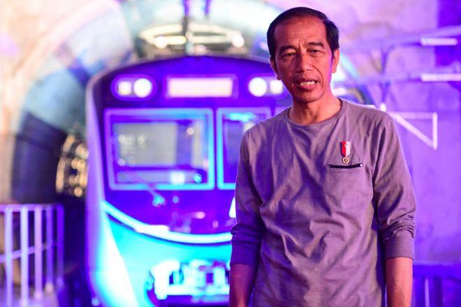 Resmikan Mrt Jakarta Presiden Joko Widodo Ini Adalah Peradaban