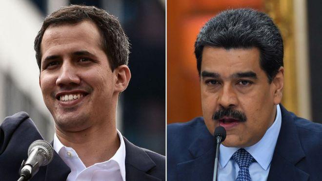 Resultado de imagem para Nicolás Maduro e Juan Guaidó