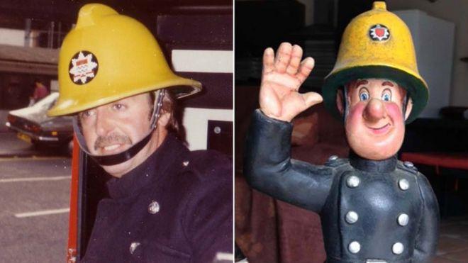 d8ad83f953030 Fireman Sam creator David Jones and the firefighter figurine he created