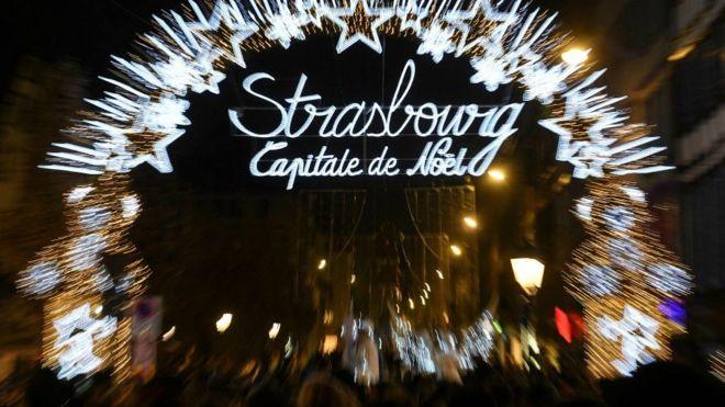Christmas market in Strasbourg. 23 Nov 2018
