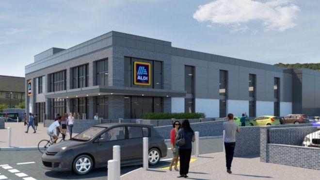 Aberystwyth Aldi Supermarket Plan Approved By Council Bbc News