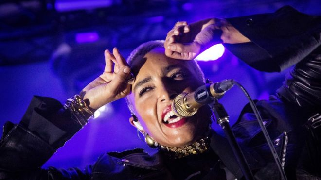 Loreen, Eurovision Song Contest winner 2012 performs at the Statement Festival at Bananpiren in Gothenburg, Sweden