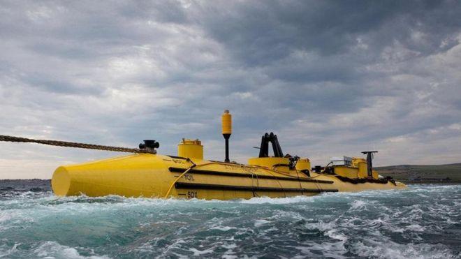 Turbinas de energia movidas por ondas em Eday