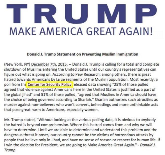 Дональд Трамп заявление