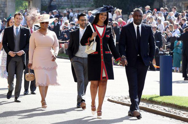 Idris Elba, his fiancee. Sabrina Dhowre and Oprah Winfrey