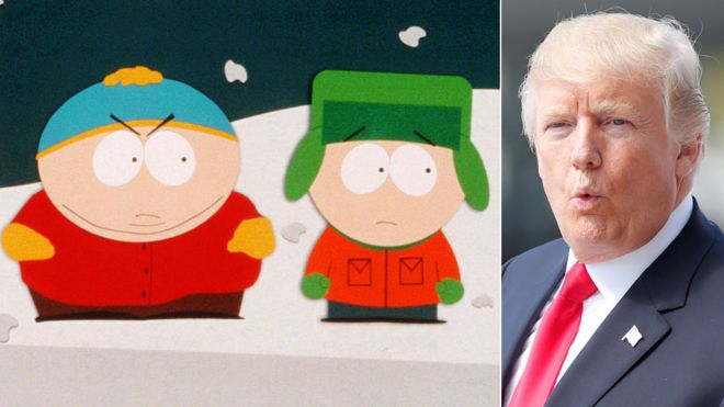 South Park usually mocks President Trump in its weekly episodes