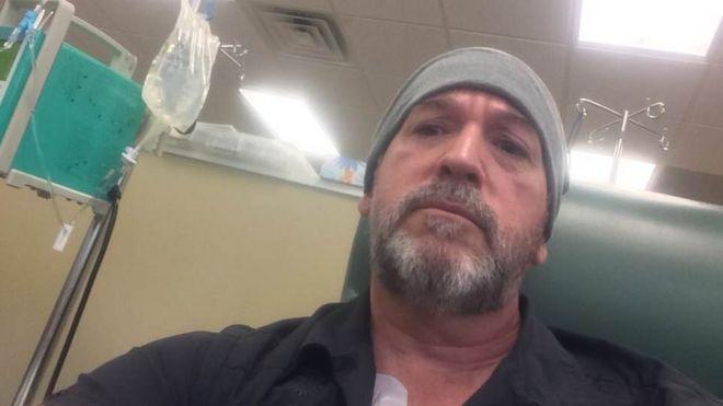 Robert Goodman in a hospital