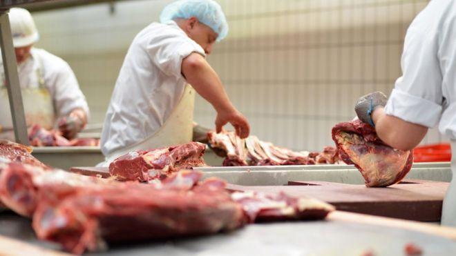 Carne em açougue