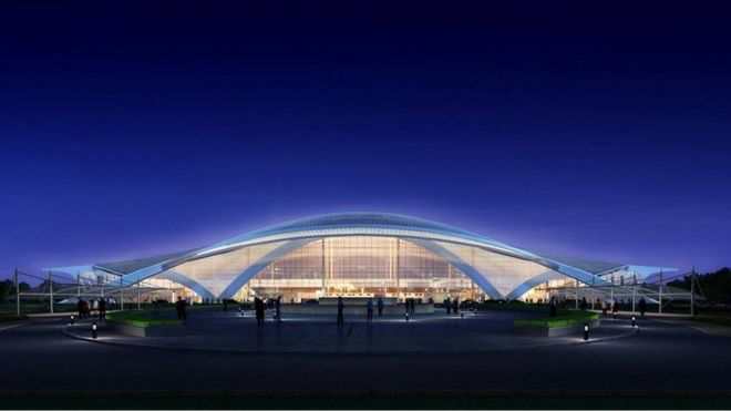 This new airport is being built China Harbour Engineering Company.