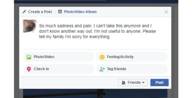 Facebook artificial intelligence spots suicidal users - BBC News