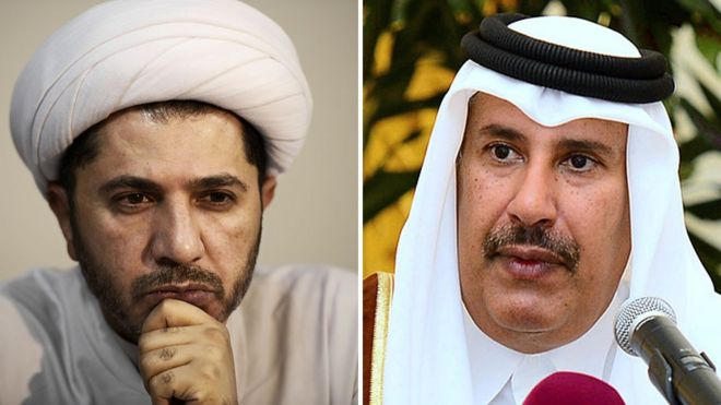 File photos of Ali Salman and Sheikh Hamad bin Jassim al-Thani