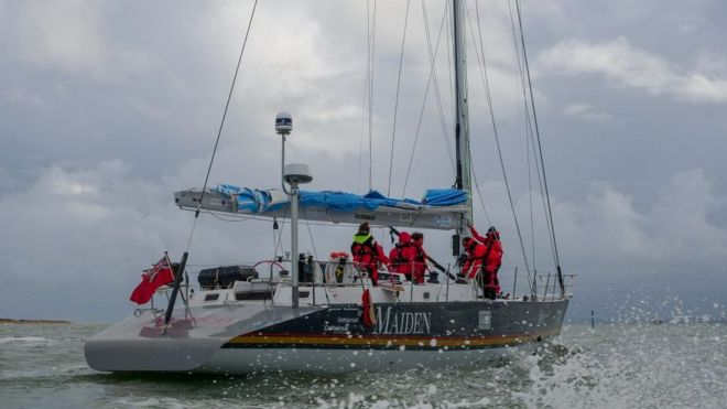 Maiden Yacht World Voyage Halted After 36 Hours Bbc News