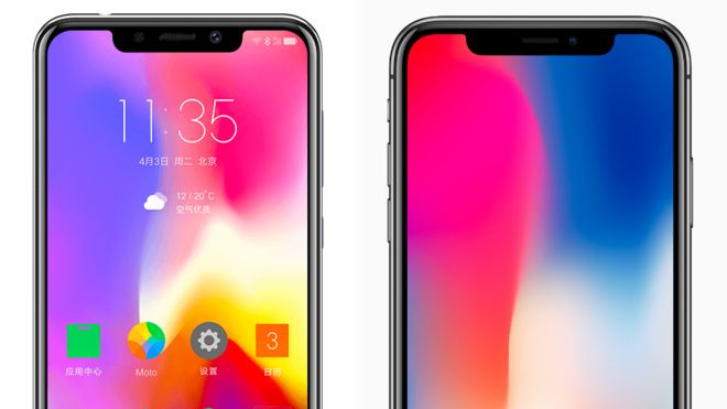 Motorola phone 'brazen copy' of iPhone X - BBC News