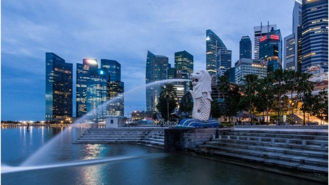 Sư tử biển, the Merlion, là một biểu tượng của Singapore được nhiều người biết đến