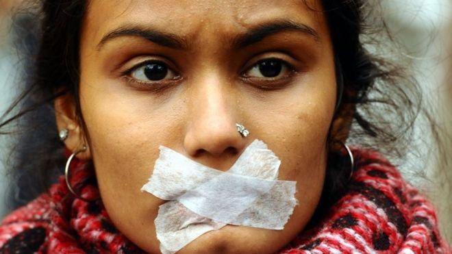 Demonstration against Indias new citizenship law in Delhi