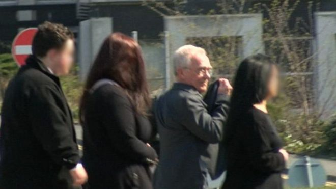 Kevin Bacchus leaving court