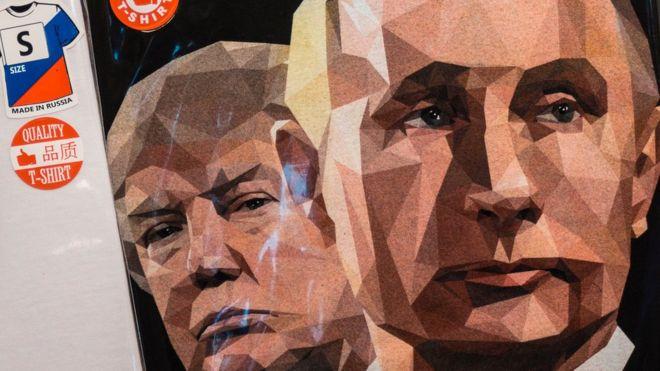 майка с Трампом и Путиным