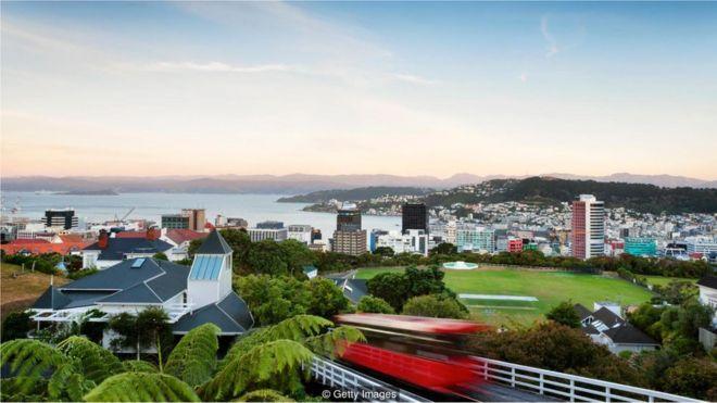 Vista de Wellington, Nova Zelândia