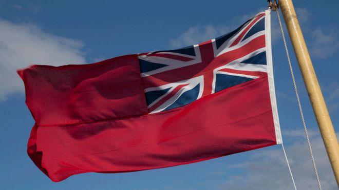 علم يرفرف على سفن تجارية بريطانية