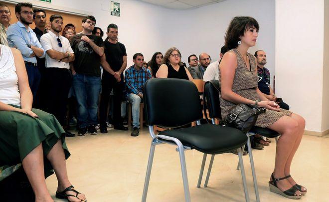 Spanish defendant Juana Rivas appears before the judge