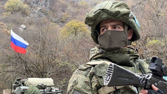 Russian peacekeeper in Dadivank
