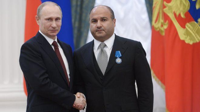 Георгий Беджамов с президентом Владимиром Путиным