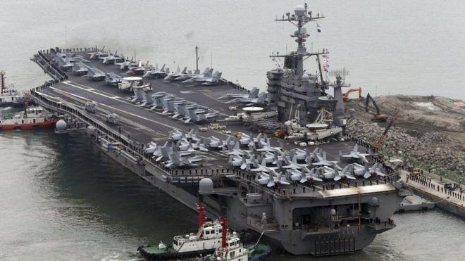 China denies US aircraft carrier Hong Kong visit - BBC News