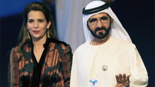 الشيخ محمد بن راشد مع زوجته السابقة الأميرة هيا بنت الحسين