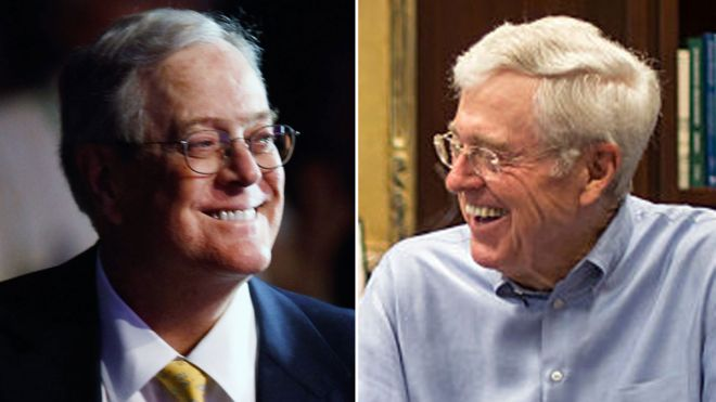 Bill and Charles Koch shown in a composite image