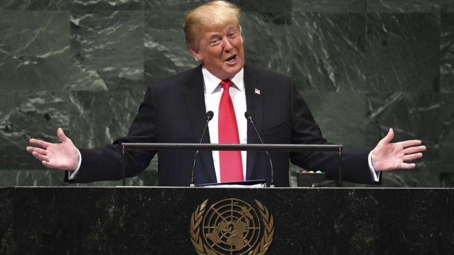 Tổng thống Mỹ Donald Trump phát biểu ở LHQ hôm 25/9